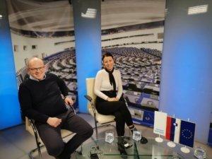 na snemanju oddaje Slovenija je del Evropske zgodbe